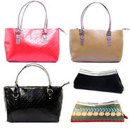 Combo of 3 Handbag + 2 Clutch For Women