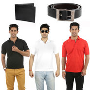 Combo of 3 T Shirts + Wallets + Belt