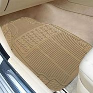 AutoStark Rubber Car Floor Mats Set of 4 BEIGE