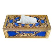 AutoStark Royal Blue Golden Designer Tissue Holder Box