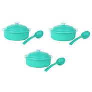 Microwaveable Carnation 9Pcs Casserole Set - Trendy Green
