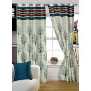 Story @ Home Green Jacquard 1 pc Door curtain-7 feet-DBR4011