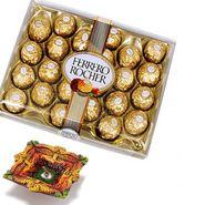 24 Pc Ferrero Rocher with Terracotta Diya_DCHO01