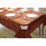 Pack of 5 Dekor World Table Cover With Mats - Rust DWCT-020_4