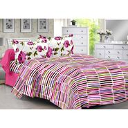 Valtellina 100% Cotton Double Bedsheet with 2 Pillow Cover-3006-D