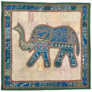 Little India Applique Embroidered Elephant Wall Hanging 524