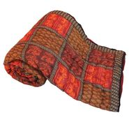Jaipuri Print Cotton Double Bed Razai AC Quilt-DLI4DRZ308
