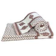 Set of 2 Jaipuri Print Cotton Double Bed Razai AC Quilt-DLI4DRZ3272