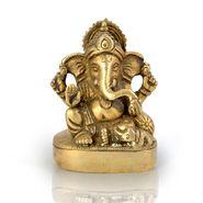 Little India Real Brass Antique Lord Ganesha Beautiful Idol 356
