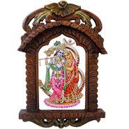 Little India Rajasthani Designer Wooden Radha-Krishna Jharokha 435