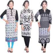 Combo of 3 Cotton Printed Kurti -DLI6KCO303