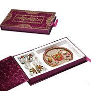 Premium Gift Box with Assorted Kajoo Sweets and Kalash Thali_DMB1451