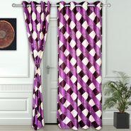 Story @ Home Purple 2 pc Door curtain-7 feet-DNR3014