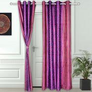 Story @ Home Pink 2 pc Door curtain-7 feet-DNR3028