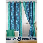Set of 8 Printed Door curtain-7 feet-DNR_4_3022