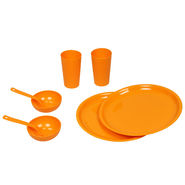 Kitchen Duniya Round Dinner Set 16 Pcs-Candy Orange