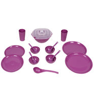 Kitchen Duniya Round Dinner Set 16 Pcs-Purple Passion