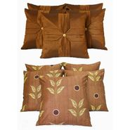 Dekor World Ultima Brown Combo. Cushion Cover(Pack of 10 Pcs)-DWCB-128