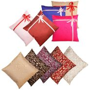Dekor World Multi Golden Combo. Cushion Cover (Pack of 10)-DWCB-202-12
