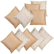 Dekor World Golden Printed Combo. Cushion Cover (Pack of 10)-DWCB-203-16