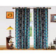Dekor World Circle Bonanza Window Curtain- Set Of 2 -DWCT-463-5
