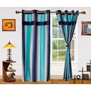 Dekor World Ultimate Stripes Window Curtain-Set of 2 -DWCT-478-5
