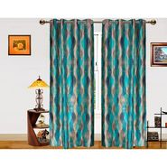 Dekor World Illusion Waves   Window Curtain -Set of 2 -DWCT-578-5