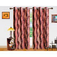 Dekor World 3D Leaf Window Curtain-Set of 2 -DWCT-721-5