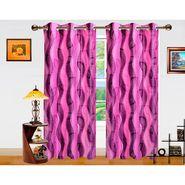 Dekor World 3D Leaf Window Curtain-Set of 2 -DWCT-755-5