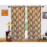 Dekor World Altra Lahar Window Curtain-Set of 2 -DWCT-766-5