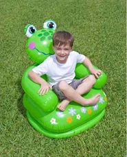 Delhi Haat Inflatable Frog Chair for Kids