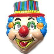 Clown Faced PVC Mask for Kids - 5pcs