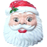 Santa Faced PVC Mask for Kids - 5 pcs