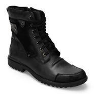 Delize Leather Boots - Black-3089