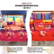 Designer Microfiber Razai - Set of 2