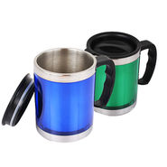Pack of 2 Designer Stainless Steel Mug with Lid