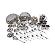 Elegante Silver Touch Stainless Steel Dinner Set 51 Pcs EHPESTSSD0025