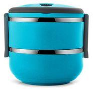 Silver Kris Lunch Box 2 Layer(Blue)  EHPSKLBB0065