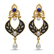 Branded Gold Plated Artificial Earrings_Er30038gblu