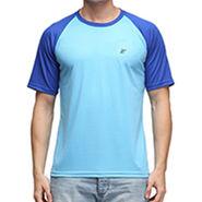 Effit Half Sleeves Round Neck Tshirt_Etsprnturro - Turquoise