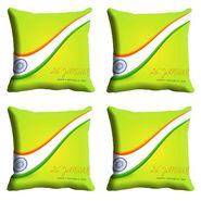 meSleep Multi Color Republic Day Cushion Cover (16x16) -EV-10-REP16-CD-011-04
