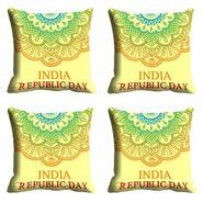 meSleep India Republic Day Cushion Cover (16x16) -EV-10-REP16-CD-019-04