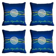 meSleep Blue India Republic Day Cushion Cover (16x16) -EV-10-REP16-CD-026-04