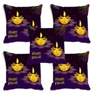 Set of 5 meSleep Digitally Printed Cushion Cover-CD-033