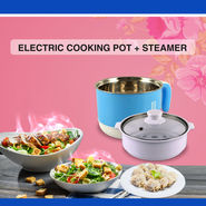 Electric Cooking Pot with Steamer