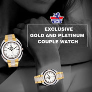 Scottish Club Exclusive Gold And Platinum Couple Watch