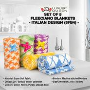 Set of 5 Fleeciano Blankets (5FB4)