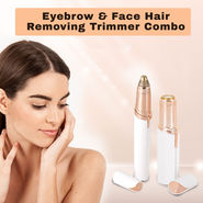 Eyebrow & Face Hair Removing Trimmer Combo
