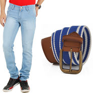 Combo of Cotton Jeans + Casual Belt_D202b208