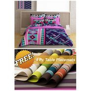 Storyathome Pink Abstract 1 Double Bedsheet With 2 Pillow Cover -FE1123_TT